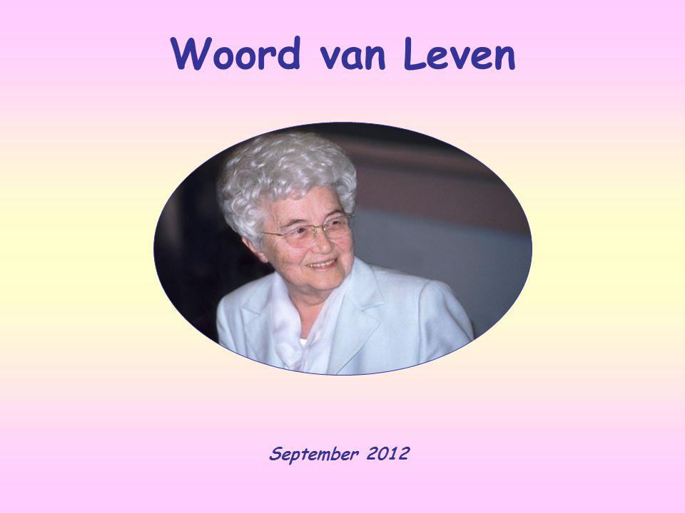Woord van Leven September 2012