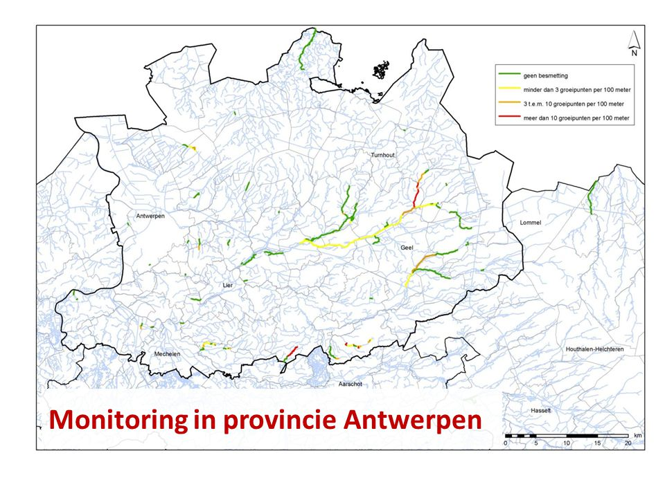 Monitoring in provincie Antwerpen