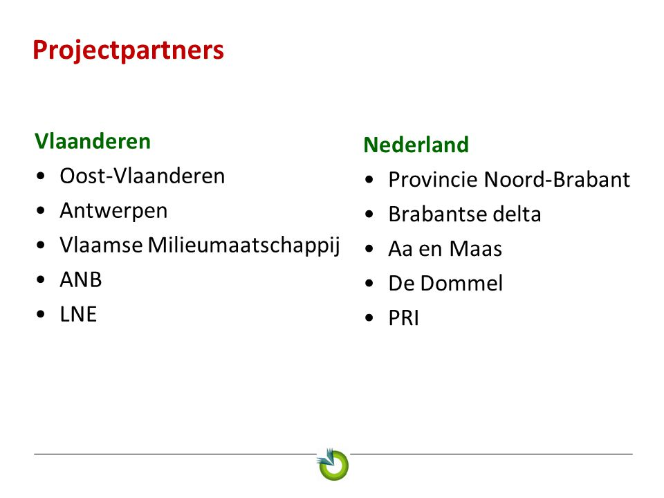 Projectpartners Vlaanderen Nederland Oost-Vlaanderen