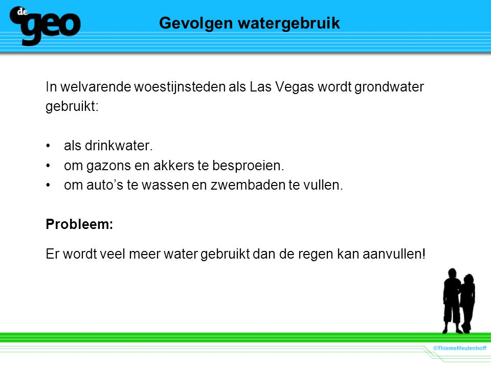 Gevolgen watergebruik