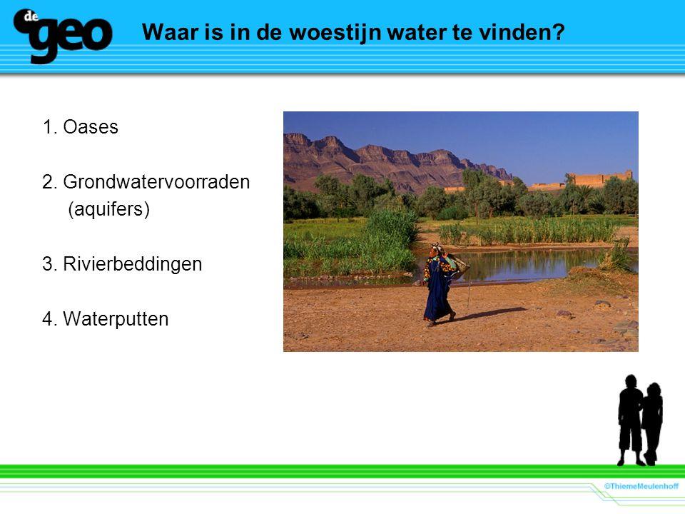 Waar is in de woestijn water te vinden