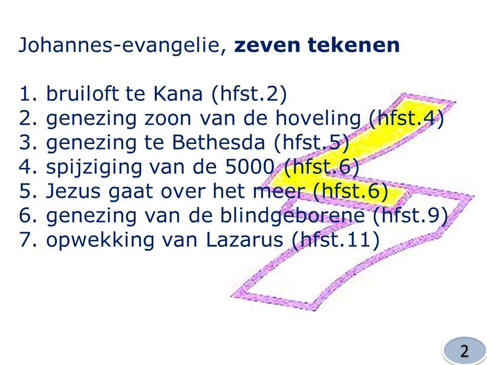 Johannes-evangelie, zeven tekenen bruiloft te Kana (hfst.2)