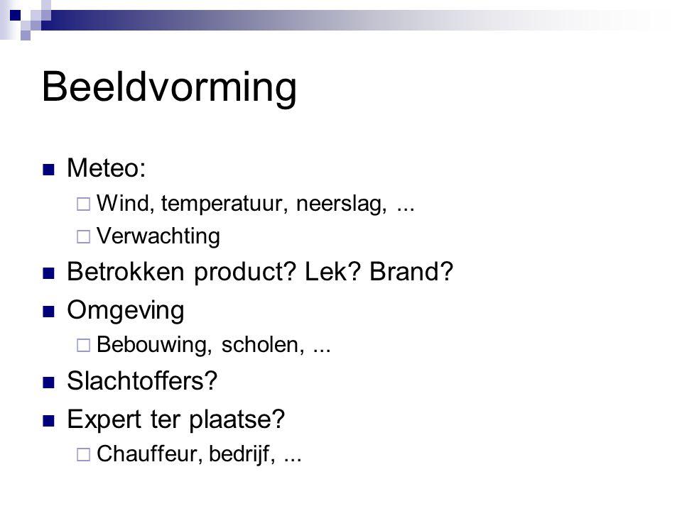 Beeldvorming Meteo: Betrokken product Lek Brand Omgeving