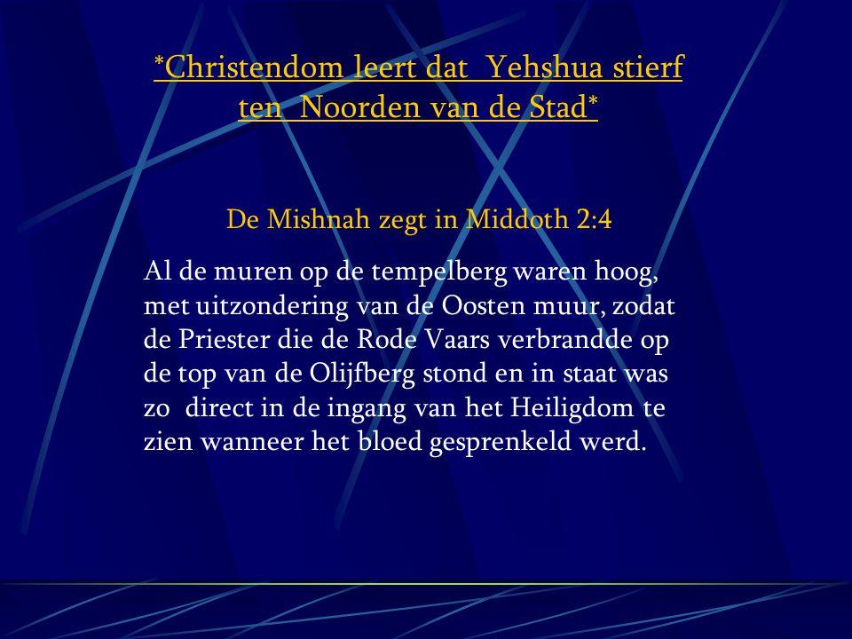 *Christendom leert dat Yehshua stierf ten Noorden van de Stad*