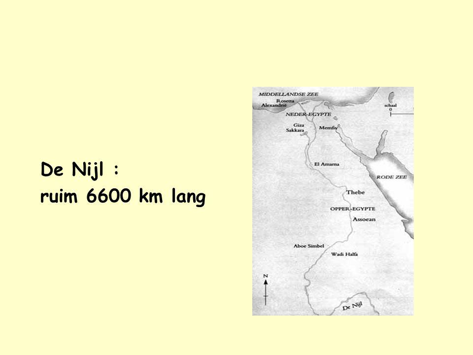 Nijl De Nijl : ruim 6600 km lang