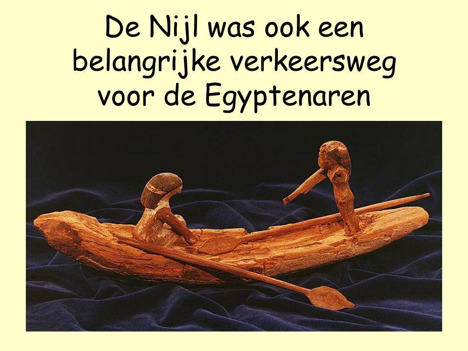 De Nijl was ook een belangrijke verkeersweg voor de Egyptenaren