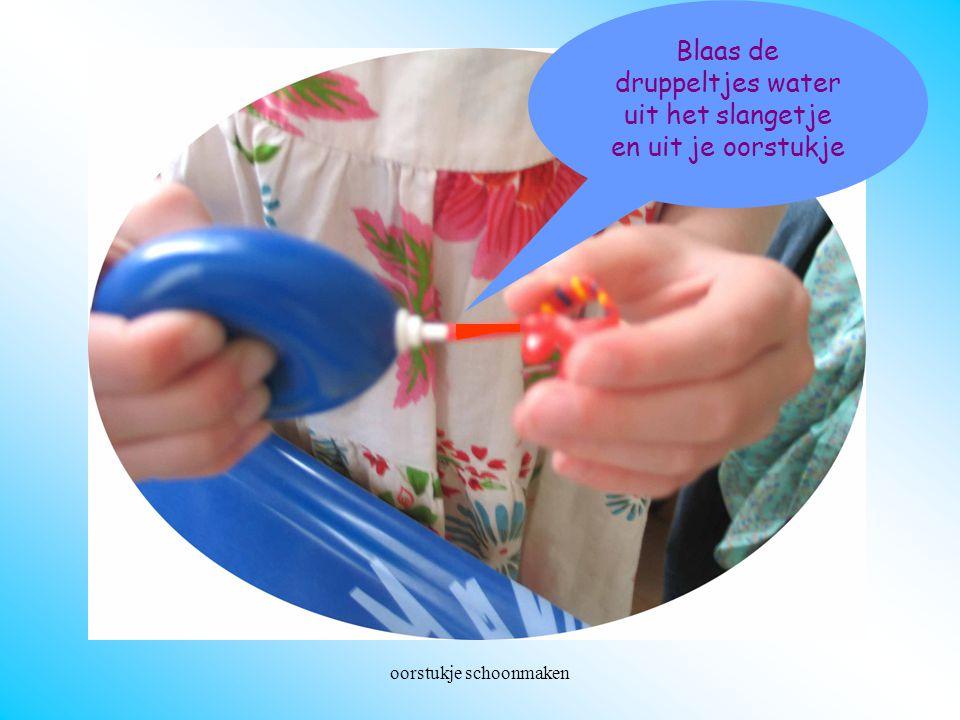 oorstukje schoonmaken