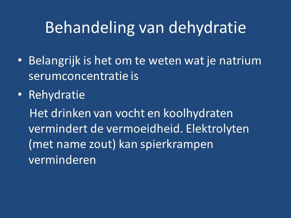 Behandeling van dehydratie