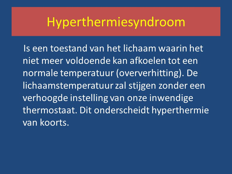 Hyperthermiesyndroom