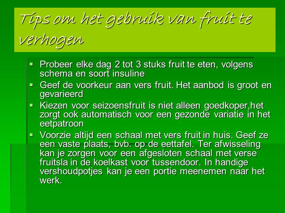Tips om het gebruik van fruit te verhogen