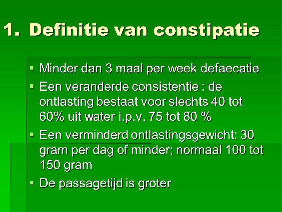 Definitie van constipatie