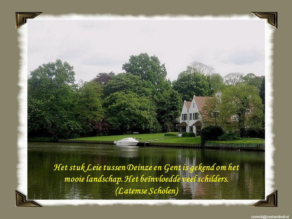 Het stuk Leie tussen Deinze en Gent is gekend om het mooie landschap