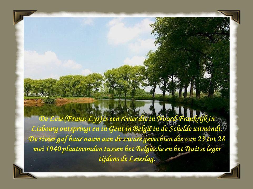 De Leie (Frans: Lys) is een rivier die in Noord-Frankrijk in Lisbourg ontspringt en in Gent in België in de Schelde uitmondt.