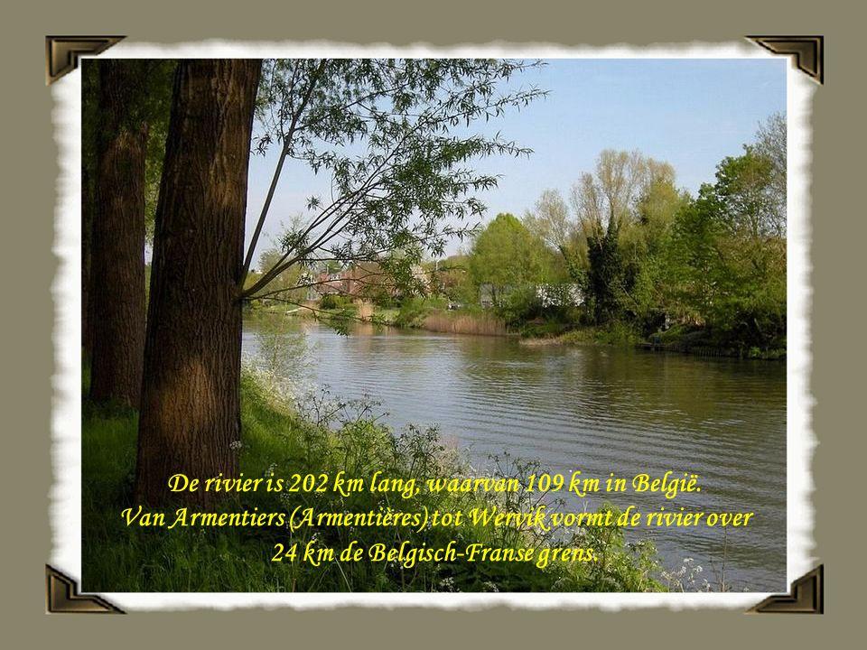 De rivier is 202 km lang, waarvan 109 km in België