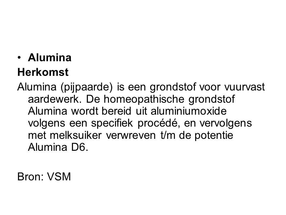 Alumina Herkomst.