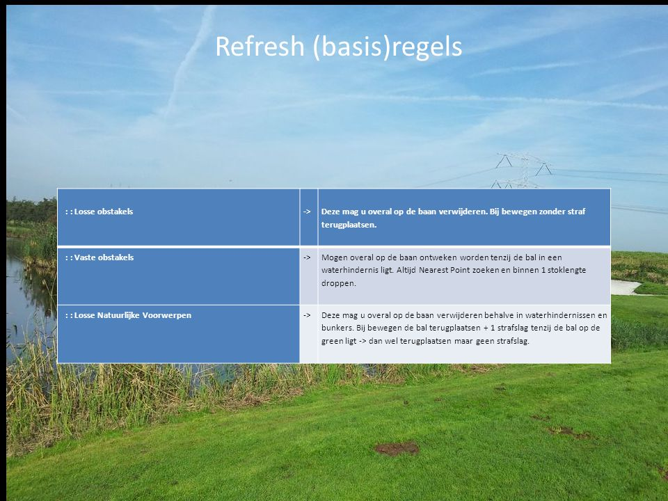 Refresh (basis)regels
