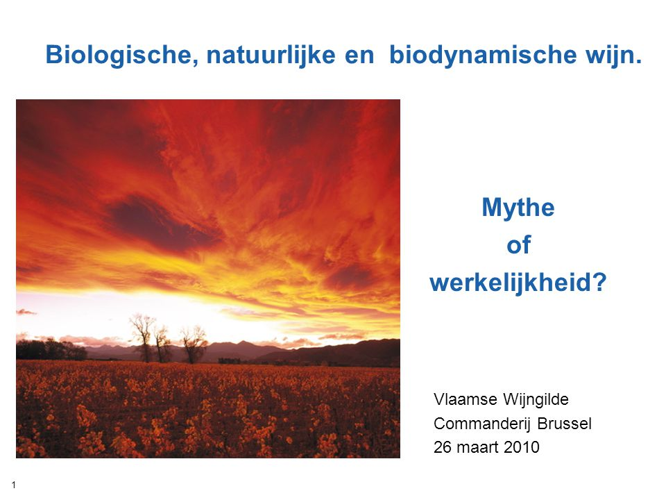 Biologische, natuurlijke en biodynamische wijn.