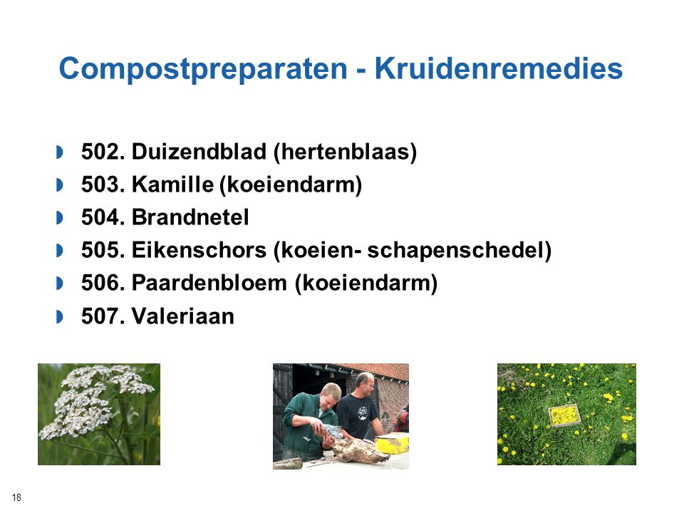 Compostpreparaten - Kruidenremedies