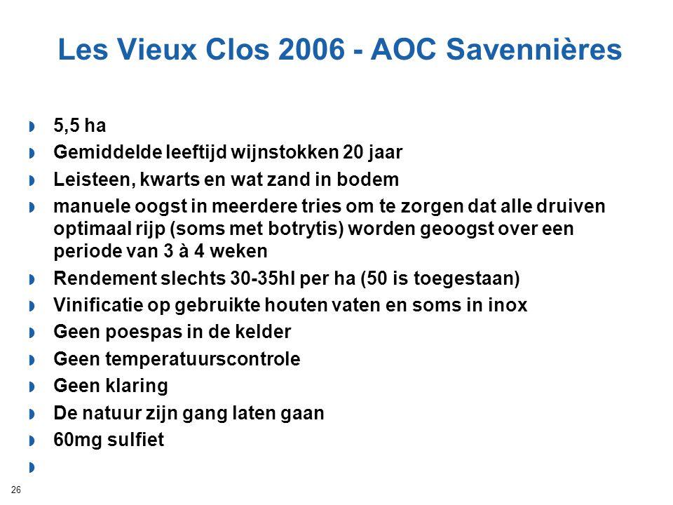 Les Vieux Clos 2006 - AOC Savennières