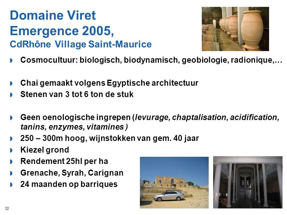 Domaine Viret Emergence 2005, CdRhône Village Saint-Maurice