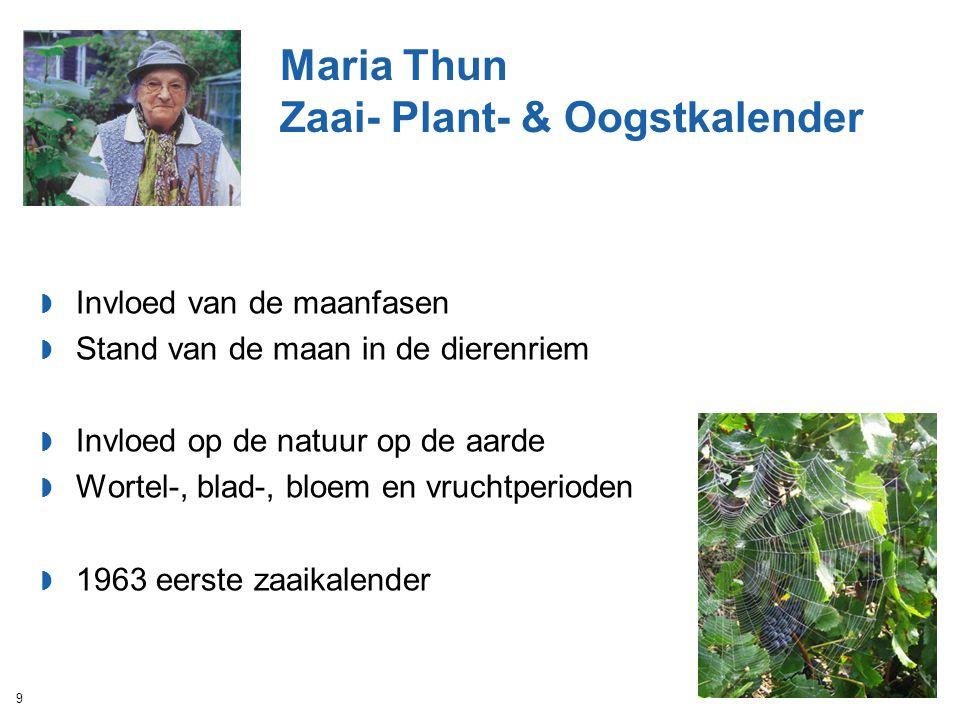 Maria Thun Zaai- Plant- & Oogstkalender