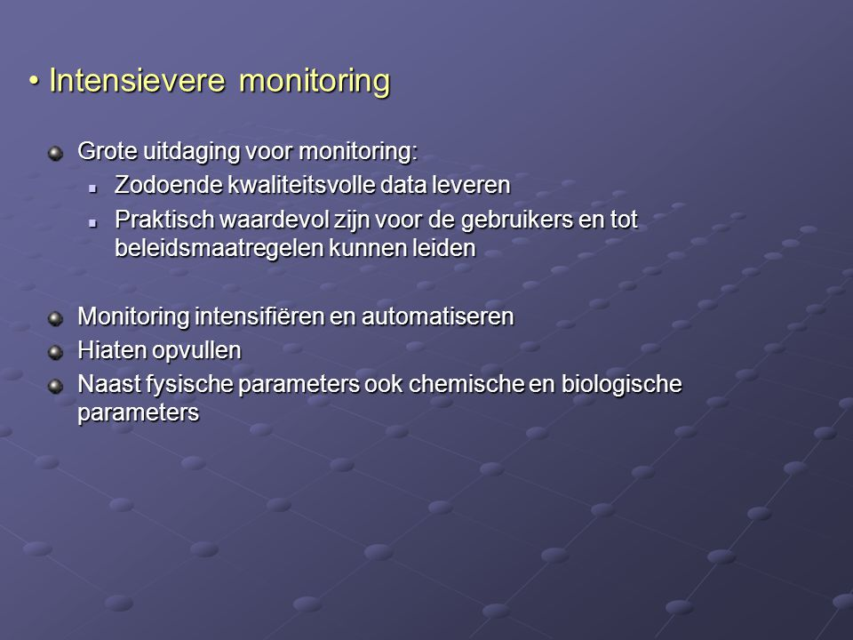Intensievere monitoring