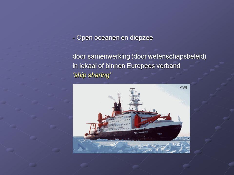 - Open oceanen en diepzee door samenwerking (door wetenschapsbeleid)