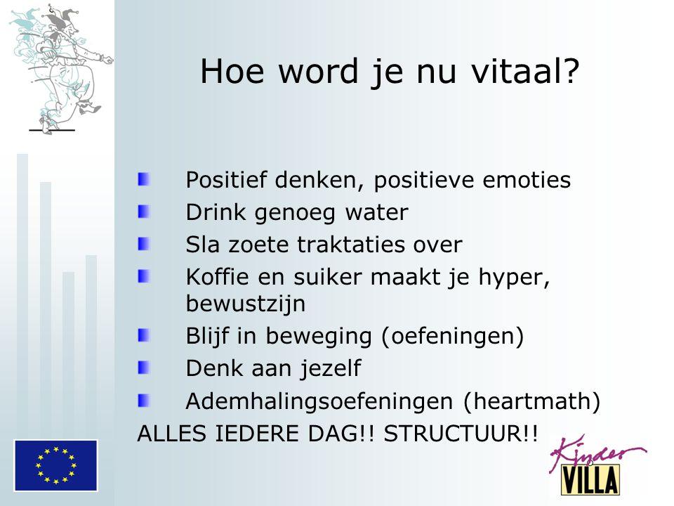 Hoe word je nu vitaal Positief denken, positieve emoties