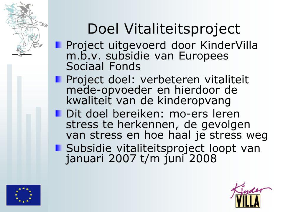 Doel Vitaliteitsproject