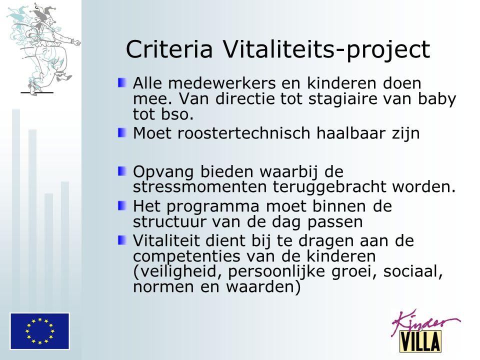 Criteria Vitaliteits-project