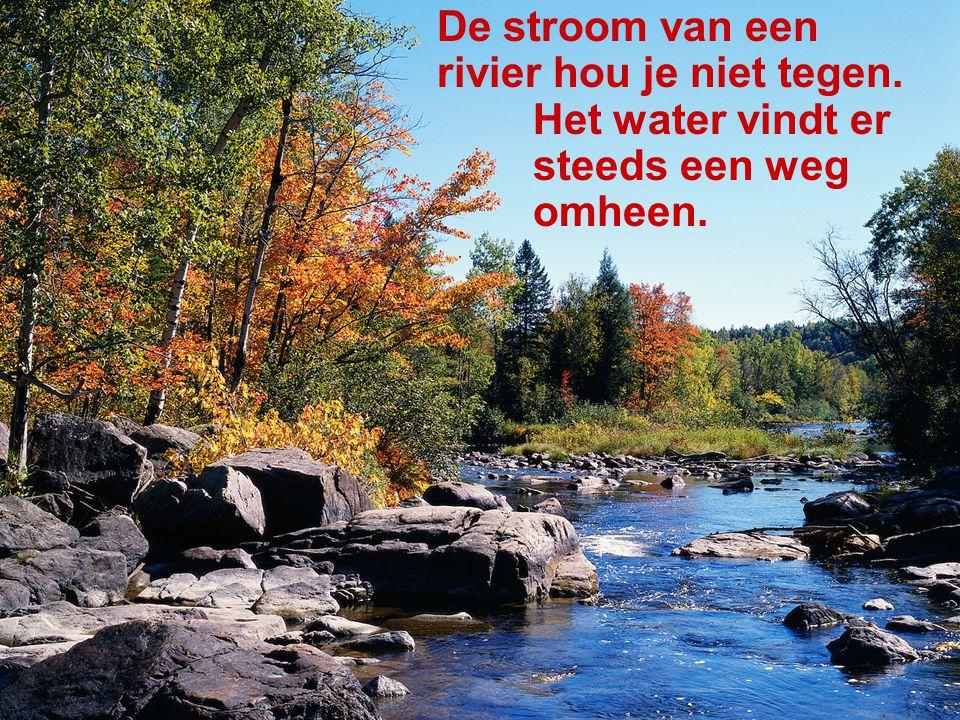De stroom van een rivier hou je niet tegen.
