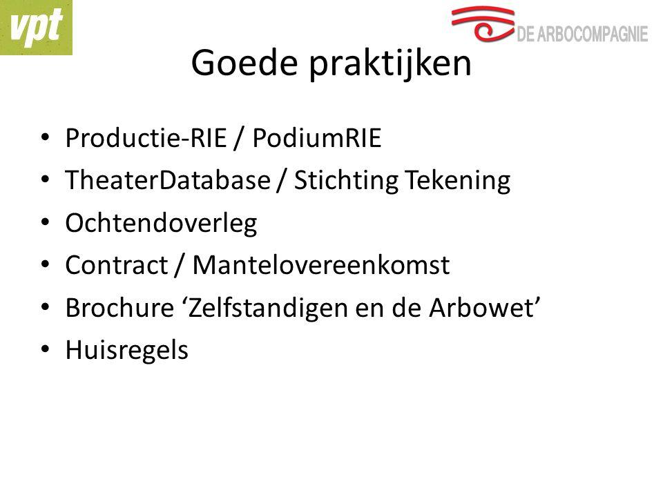 Goede praktijken Productie-RIE / PodiumRIE