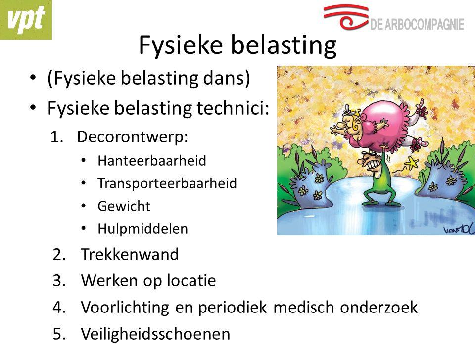 Fysieke belasting (Fysieke belasting dans) Fysieke belasting technici: