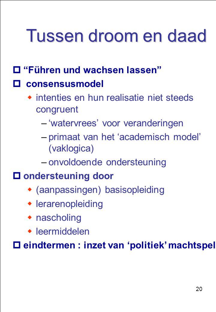 Tussen droom en daad Führen und wachsen lassen consensusmodel