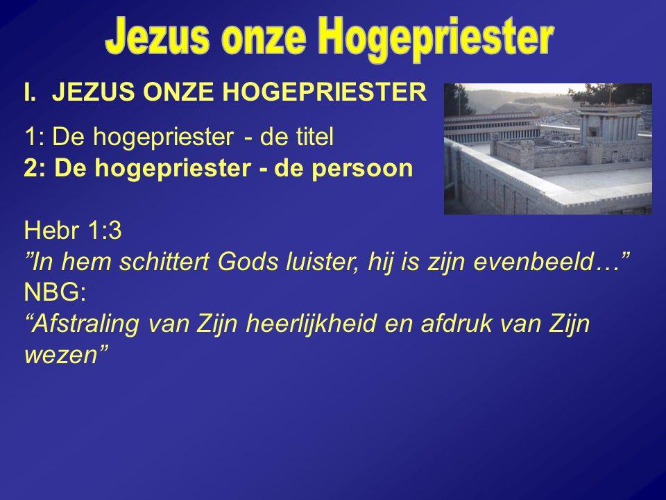 Jezus onze Hogepriester