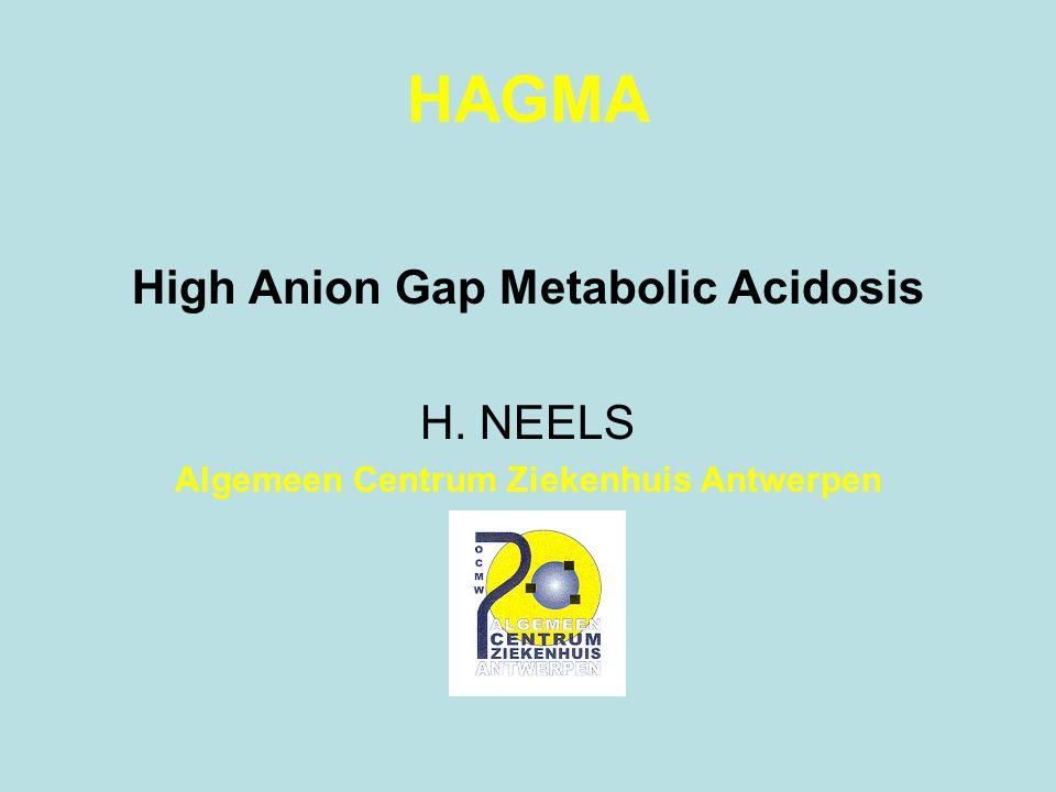 HAGMA High Anion Gap Metabolic Acidosis H. NEELS