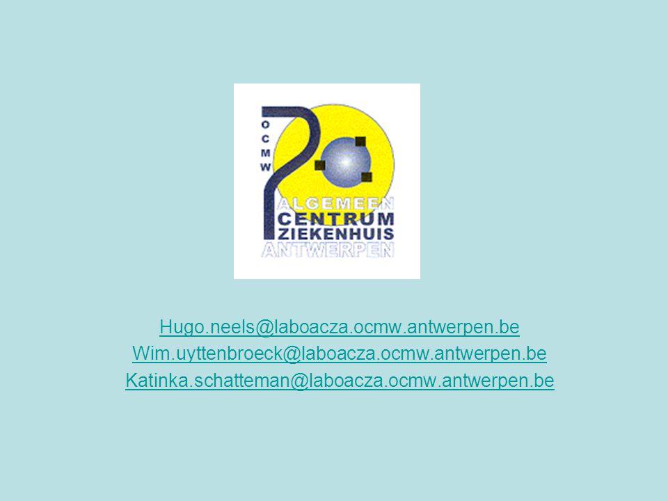 Hugo.neels@laboacza.ocmw.antwerpen.be Wim.uyttenbroeck@laboacza.ocmw.antwerpen.be.