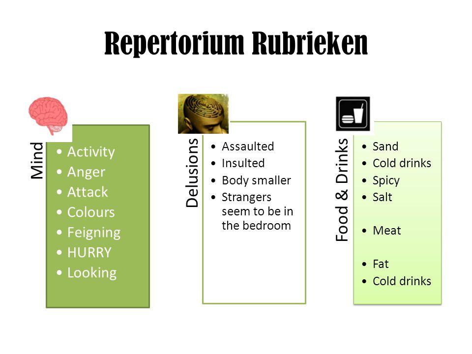 Repertorium Rubrieken
