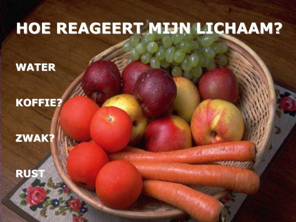 HOE REAGEERT MIJN LICHAAM