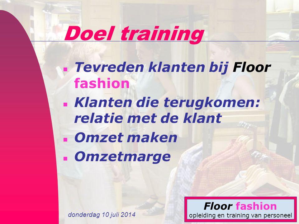 Doel training Tevreden klanten bij Floor fashion