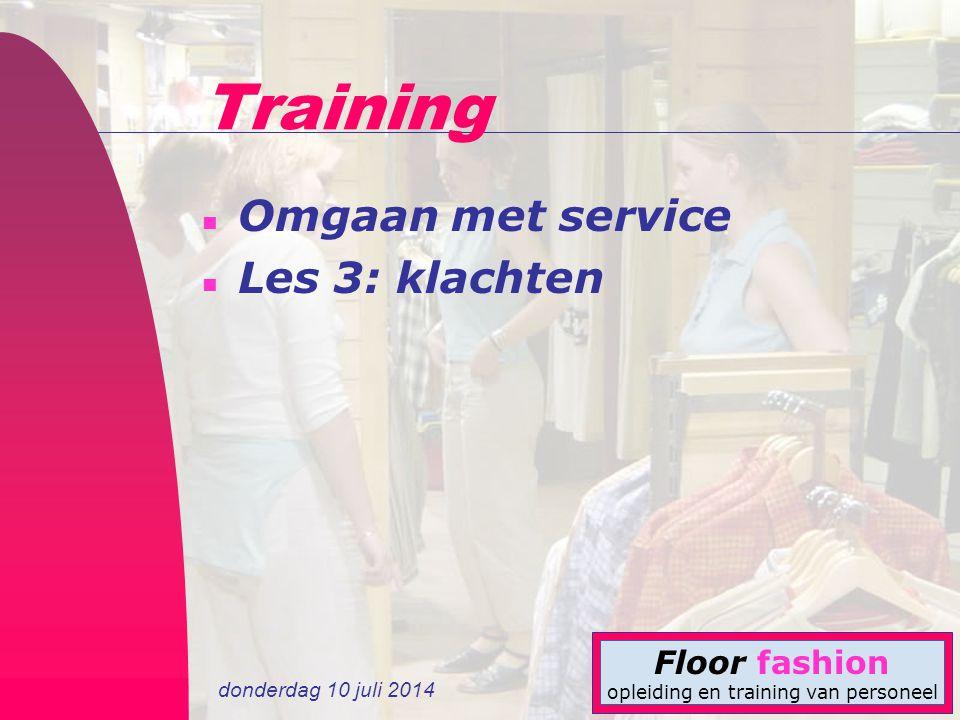 Training Omgaan met service Les 3: klachten 4-4-2017