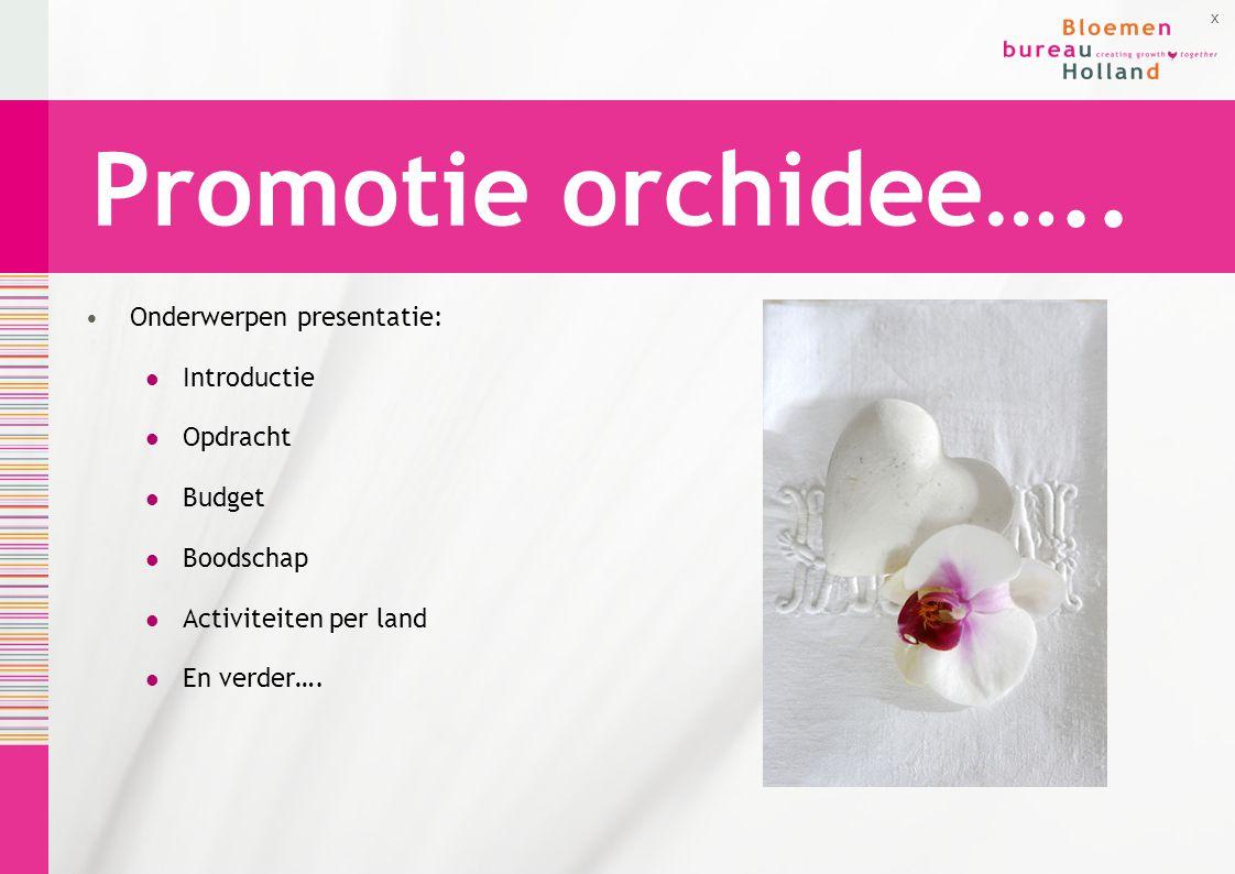 Promotie orchidee….. Onderwerpen presentatie: Introductie Opdracht