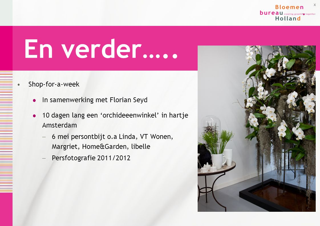 En verder….. Shop-for-a-week In samenwerking met Florian Seyd
