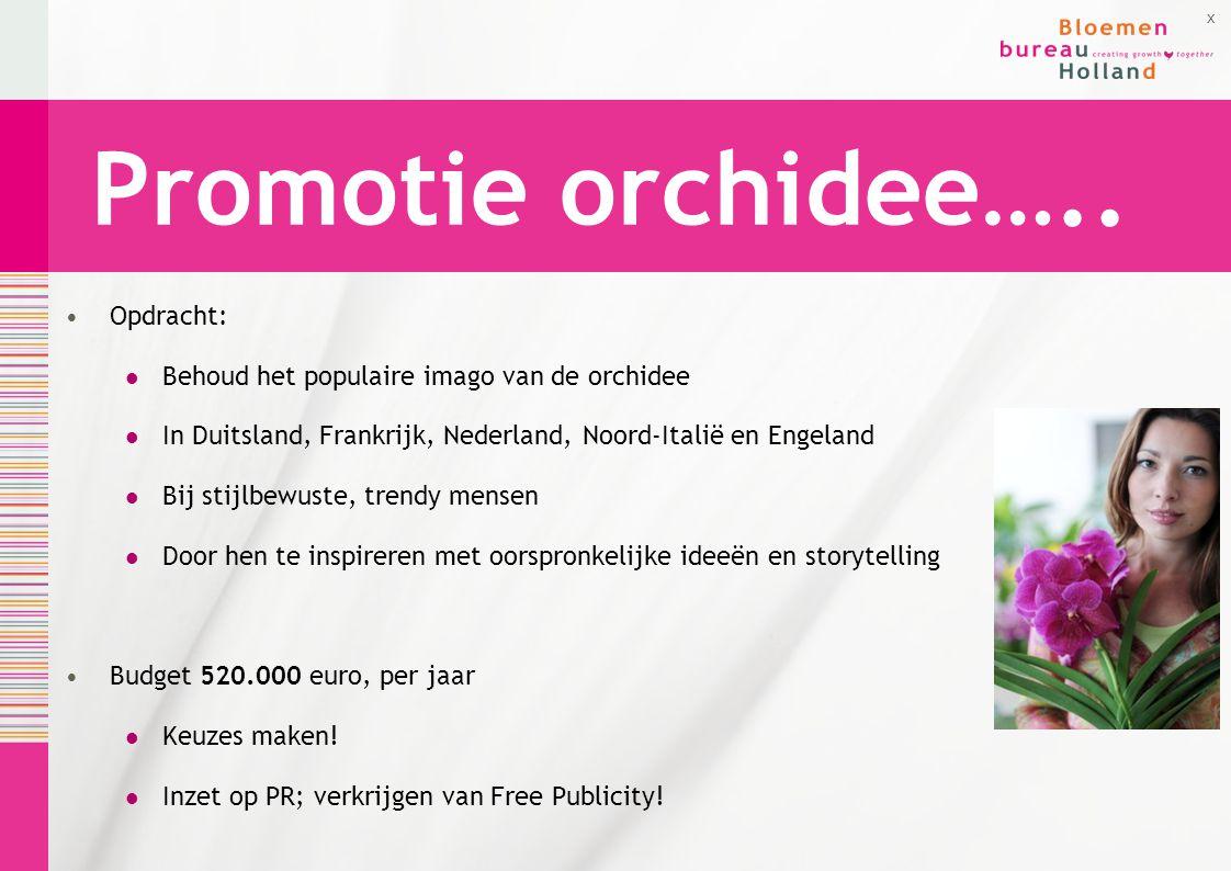 Promotie orchidee….. Opdracht: