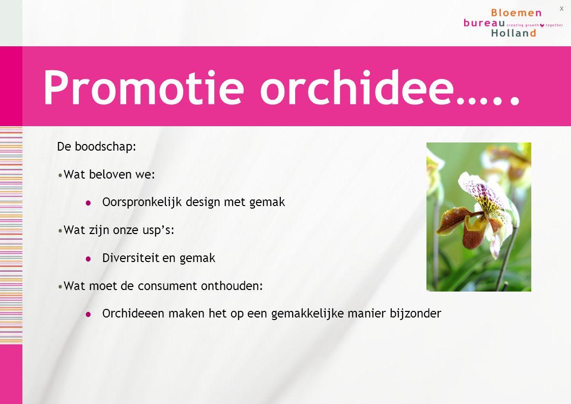 Promotie orchidee….. De boodschap: Wat beloven we: