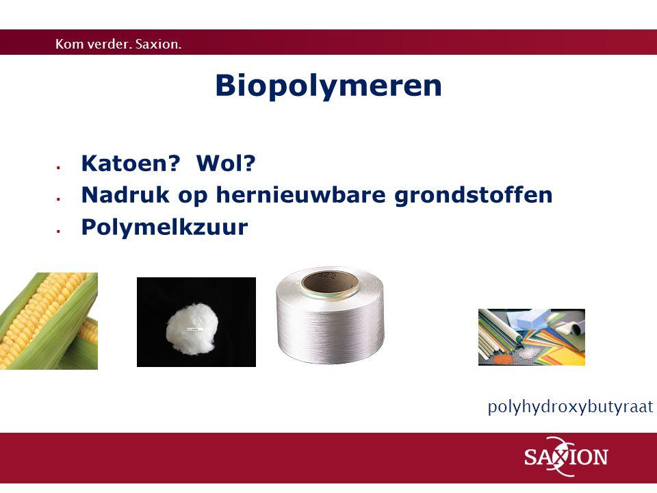Biopolymeren Katoen Wol Nadruk op hernieuwbare grondstoffen