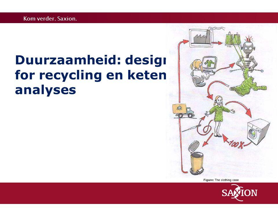 Duurzaamheid: design for recycling en keten analyses