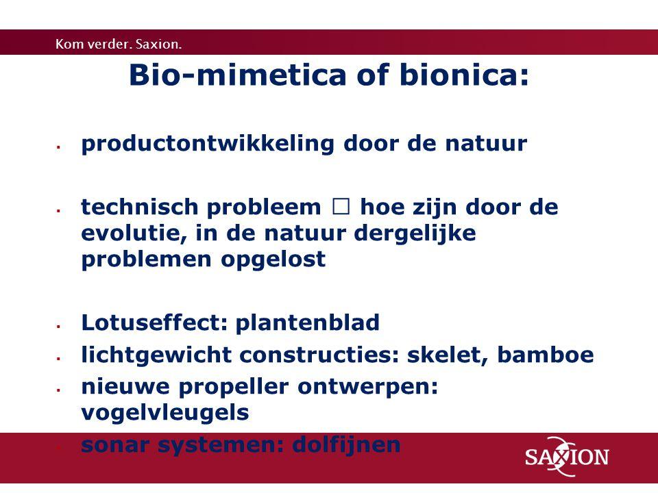 Bio-mimetica of bionica: