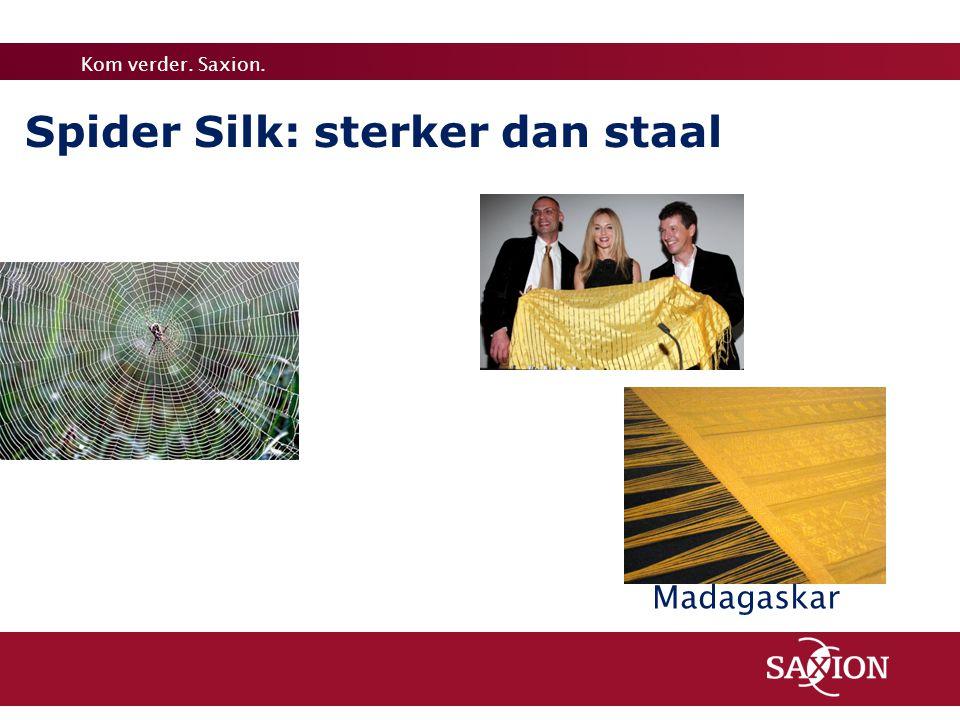 Spider Silk: sterker dan staal