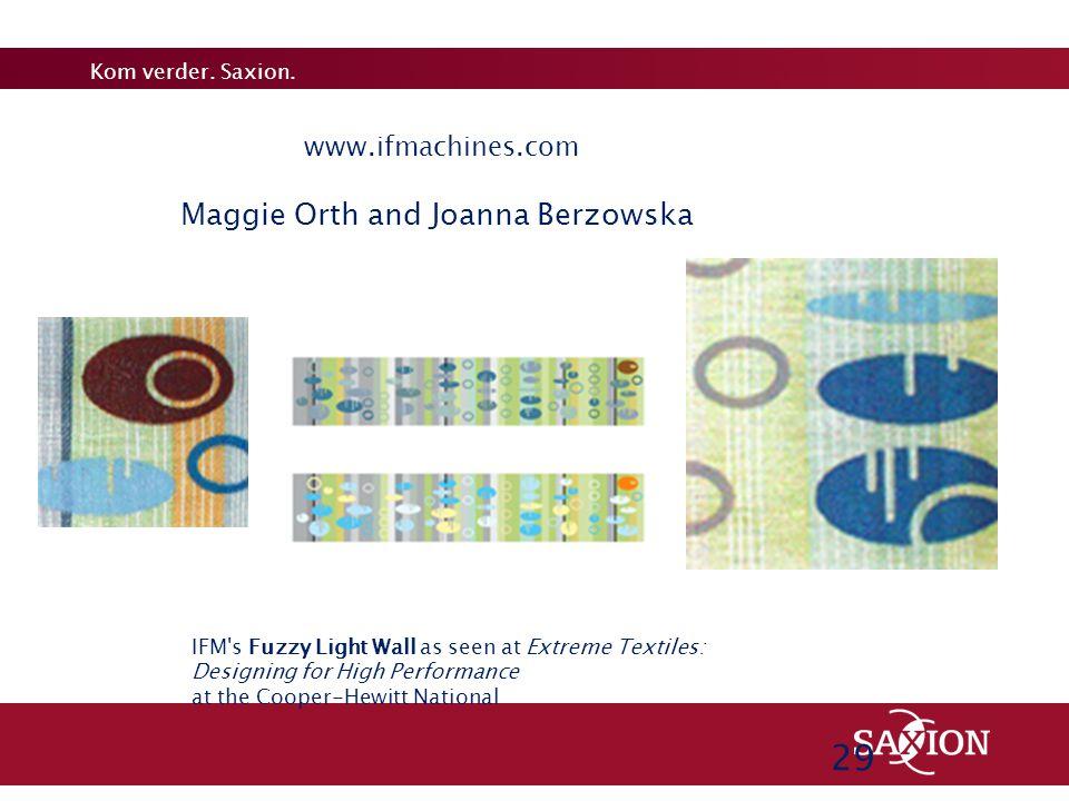 2929 29 Maggie Orth and Joanna Berzowska www.ifmachines.com